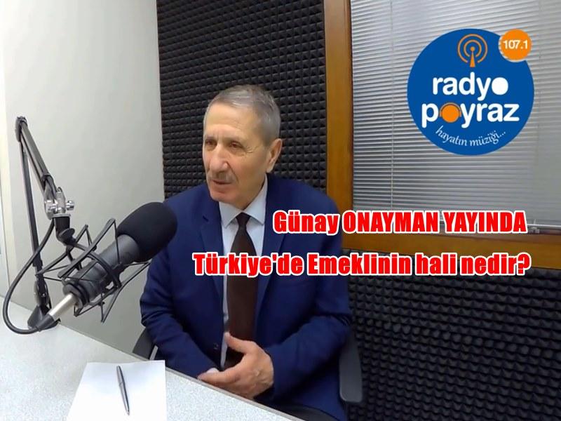 Tüm Emekli Sendikası Bursa Başkanı Günay ONAYMAN Kurtuluş Reçetesini Açıkladı.