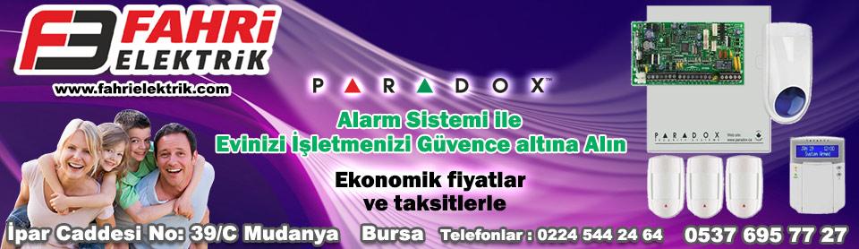 Fahri Elektrik Mudanya Paradox Alarm Sistemleri